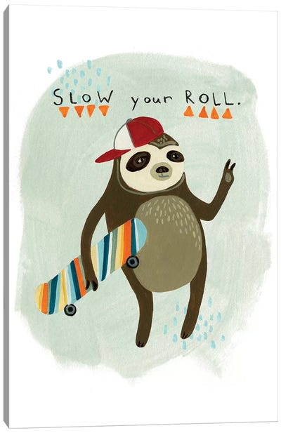 Hipster Sloth I Canvas Print #VES102