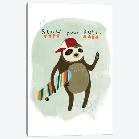 Hipster Sloth I Canvas Print #VES102} by June Erica Vess Art Print