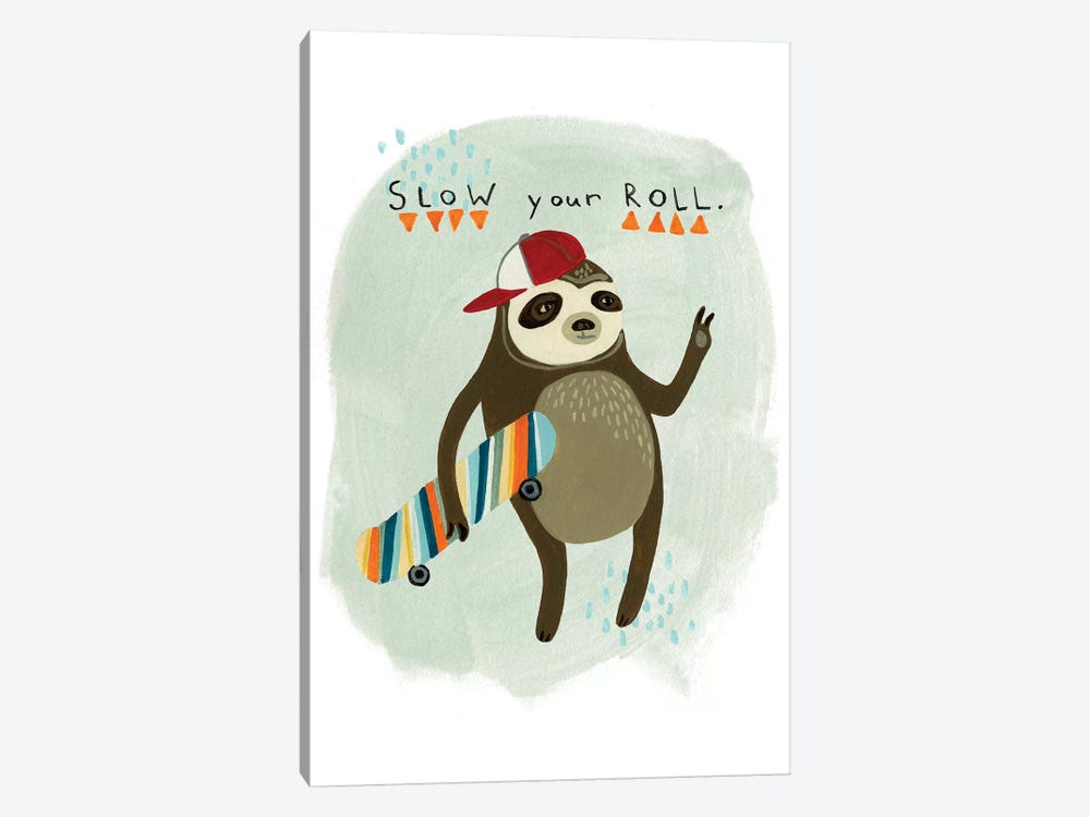 Hipster Sloth I by June Erica Vess 1-piece Canvas Print