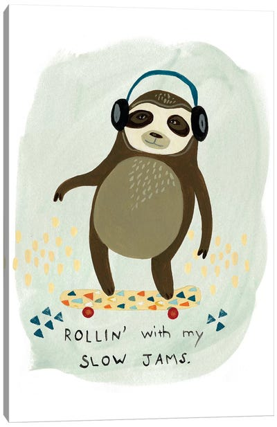 Hipster Sloth II Canvas Print #VES103