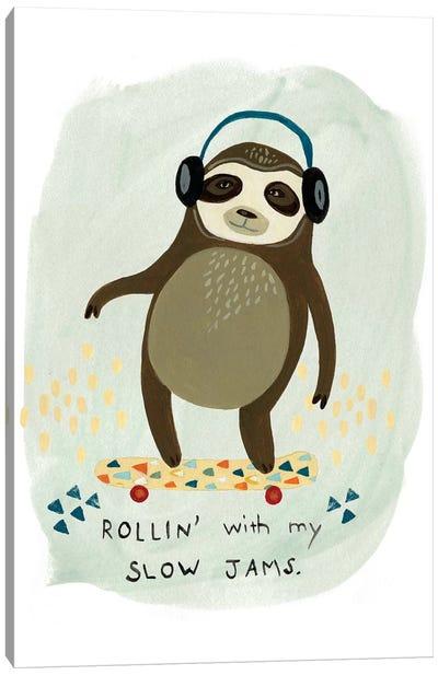 Hipster Sloth II Canvas Print #VES103