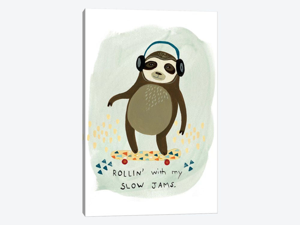 Hipster Sloth II 1-piece Canvas Wall Art