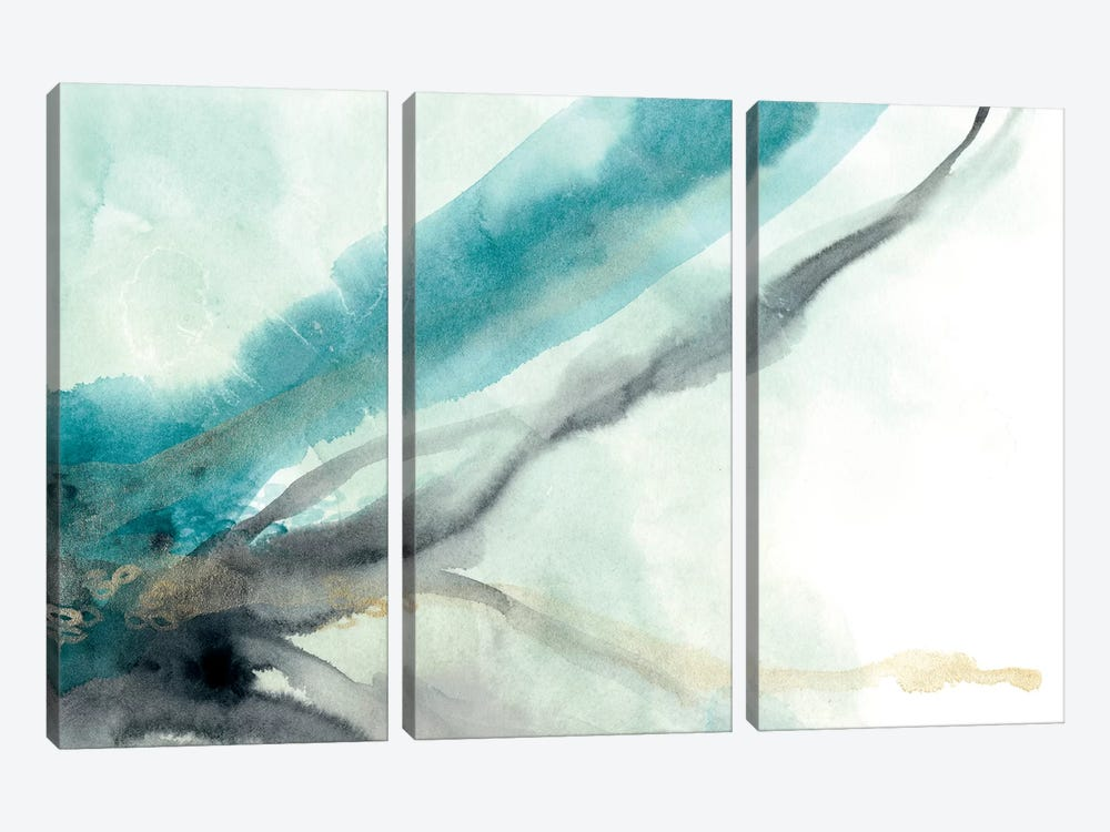 Hydro IV by June Erica Vess 3-piece Canvas Wall Art