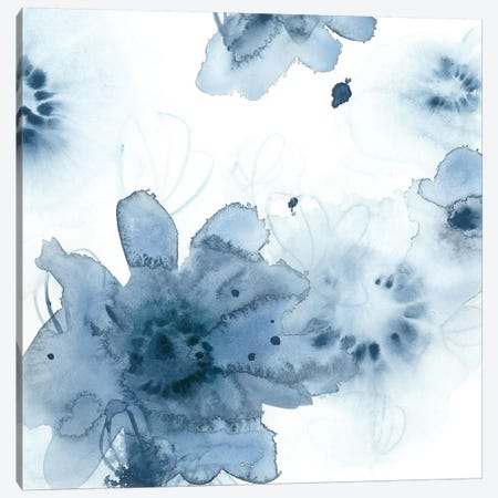 Aquatic Indigo II Canvas Print #VES10} by June Erica Vess Art Print