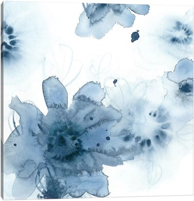 Aquatic Indigo II Canvas Art Print