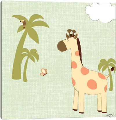 Baby Jungle I Canvas Print #VES11