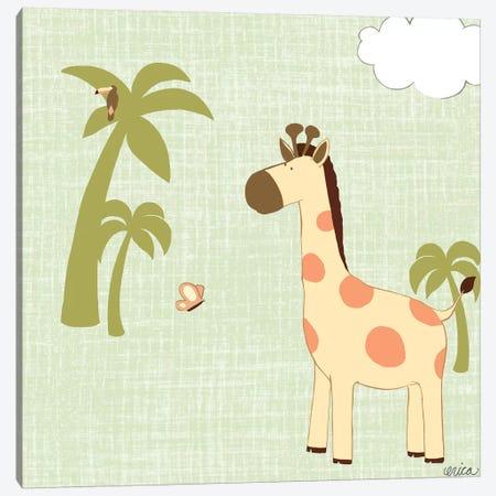 Baby Jungle I Canvas Print #VES11} by June Erica Vess Art Print