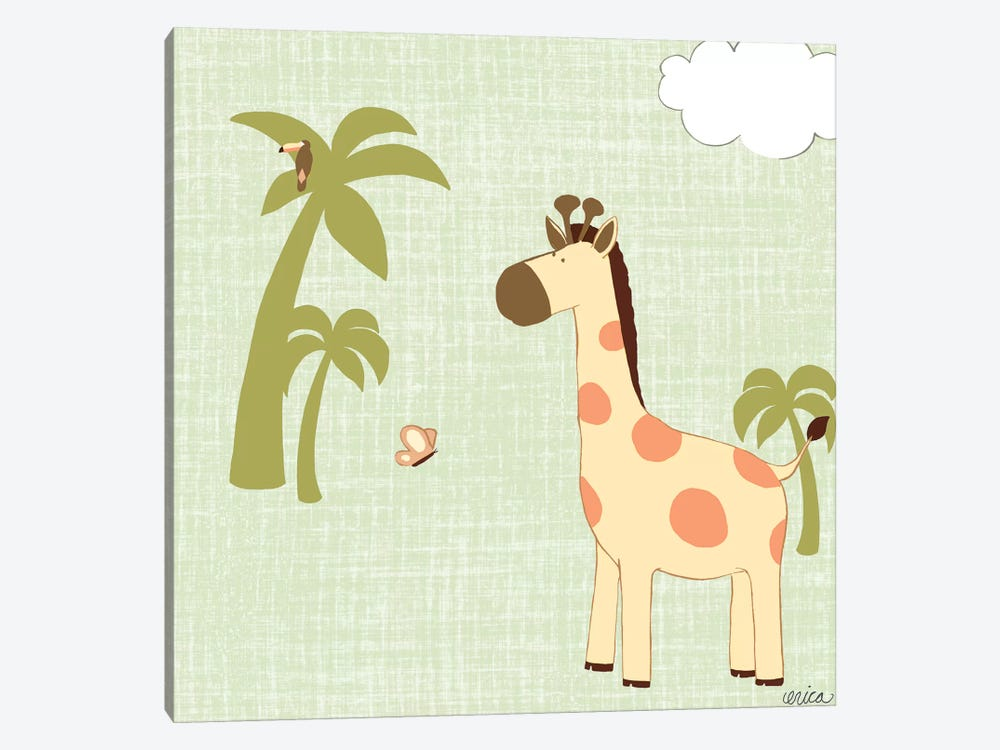 Baby Jungle I by June Erica Vess 1-piece Canvas Wall Art