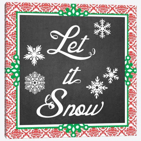Let It Snow II Canvas Print #VES122} by June Erica Vess Art Print