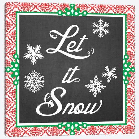Let It Snow II Canvas Print #VES122} by June Erica Vess Art Print