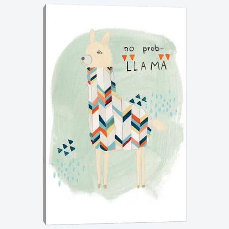 Llama Squad I Canvas Print #VES129} by June Erica Vess Canvas Print
