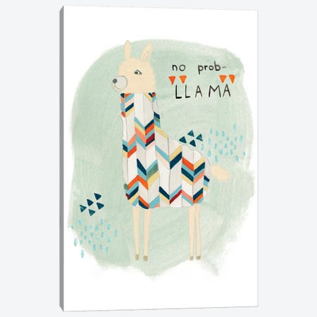 Llama Squad I Canvas Print #VES129} by June Erica Vess Canvas Print