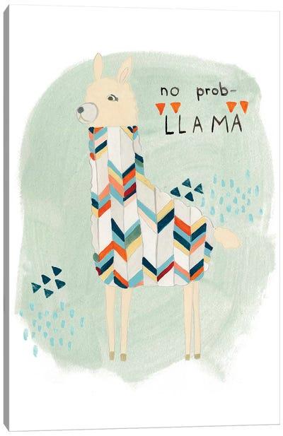 Llama Squad I Canvas Print #VES129