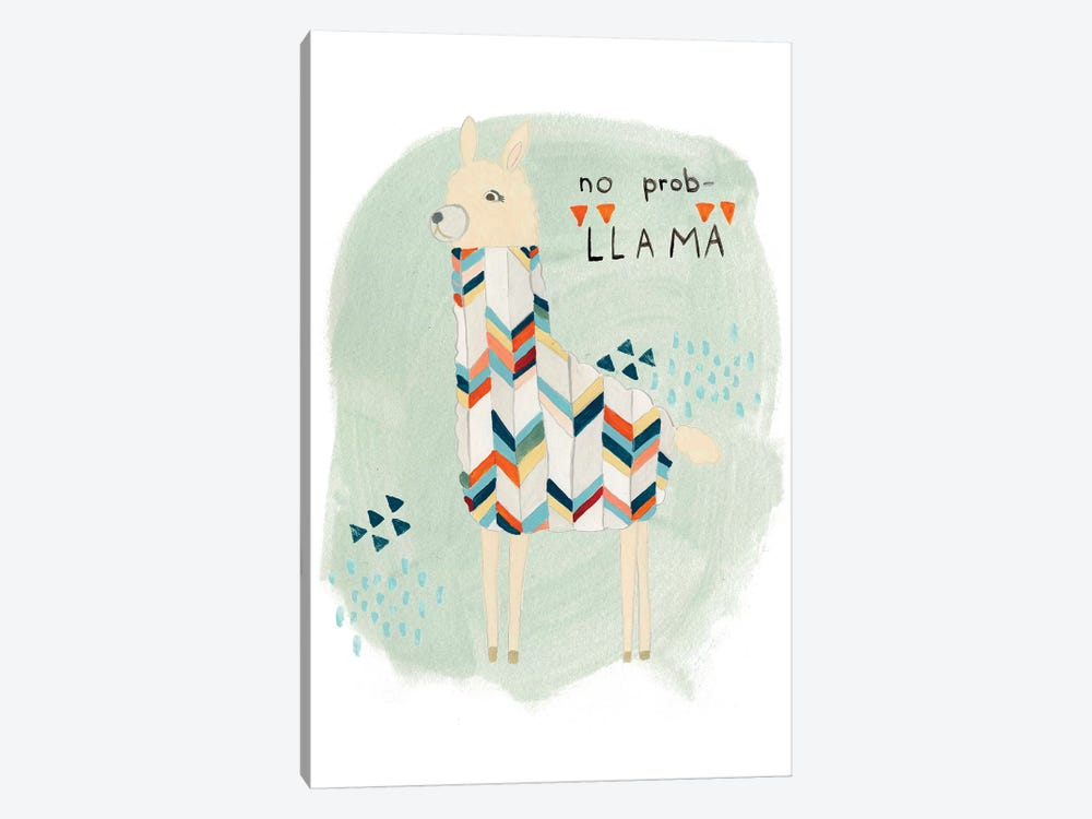 Llama Squad I by June Erica Vess 1-piece Canvas Artwork
