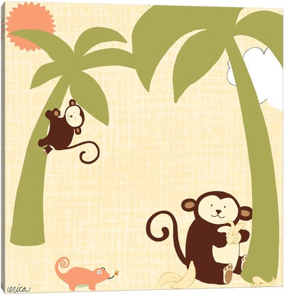 Baby Jungle II Canvas Art Print