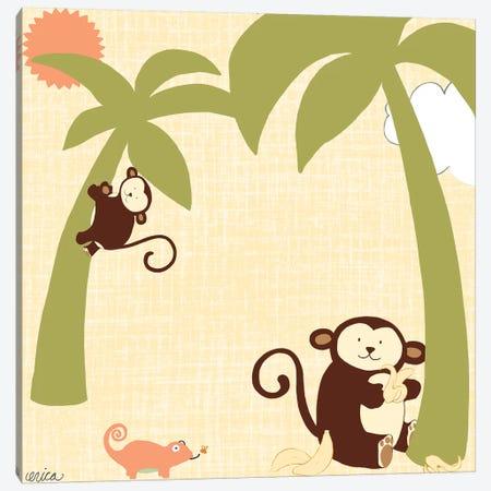 Baby Jungle II Canvas Print #VES12} by June Erica Vess Canvas Print