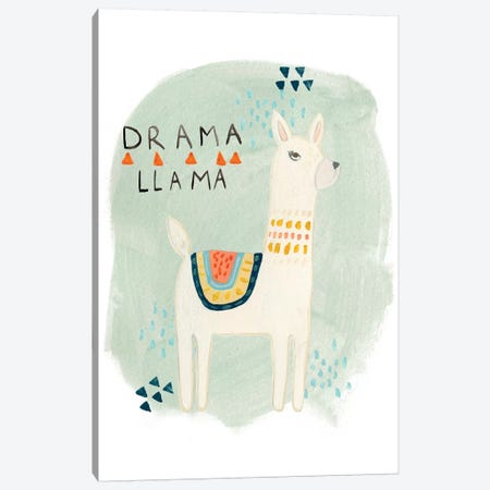 Llama Squad II Canvas Print #VES130} by June Erica Vess Canvas Artwork