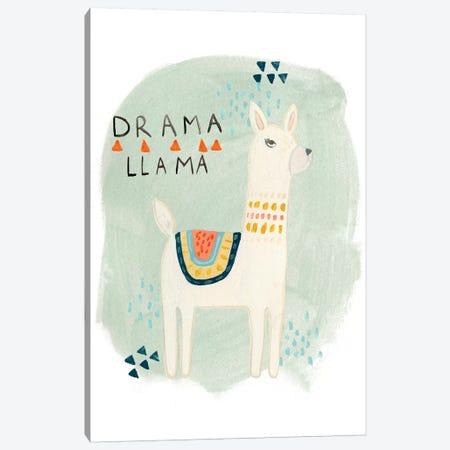 Llama Squad II Canvas Print #VES130} by June Erica Vess Canvas Artwork