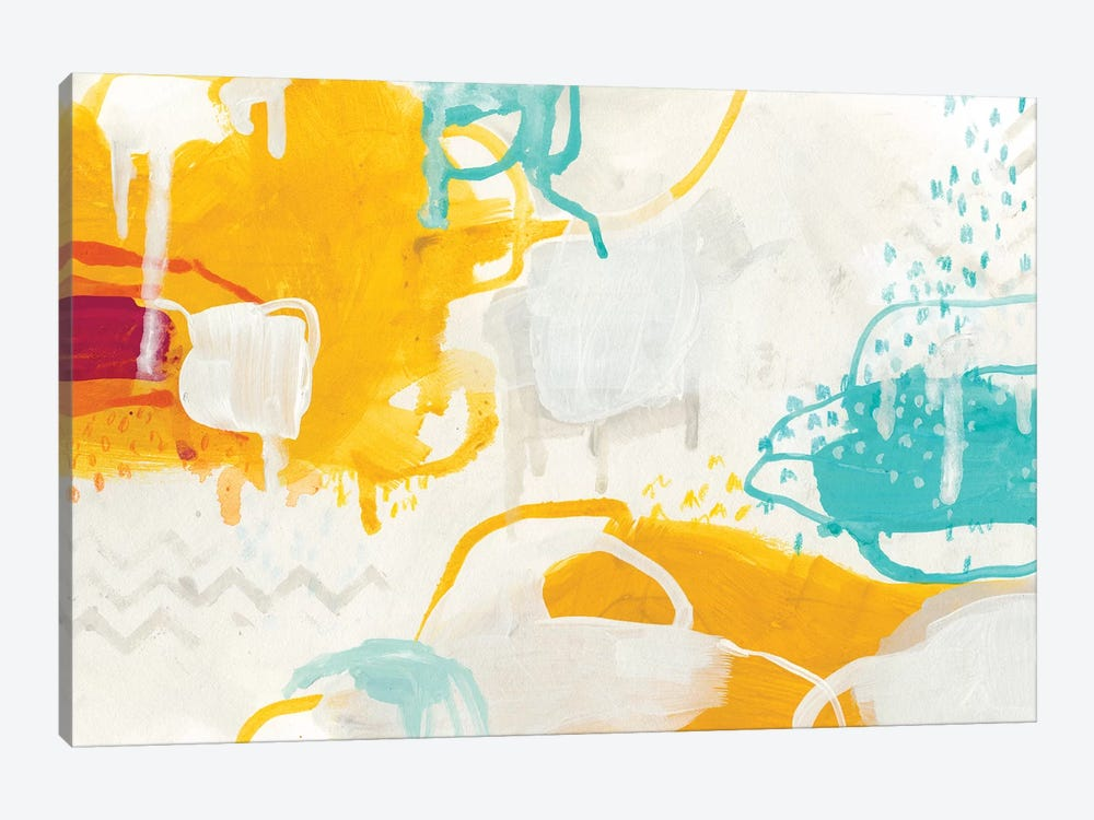 Playful Color I by June Erica Vess 1-piece Canvas Art Print