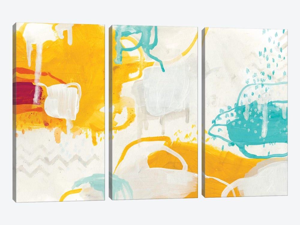 Playful Color I by June Erica Vess 3-piece Canvas Art Print