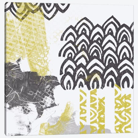 Block Print Abstract I Canvas Print #VES15} by June Erica Vess Canvas Artwork