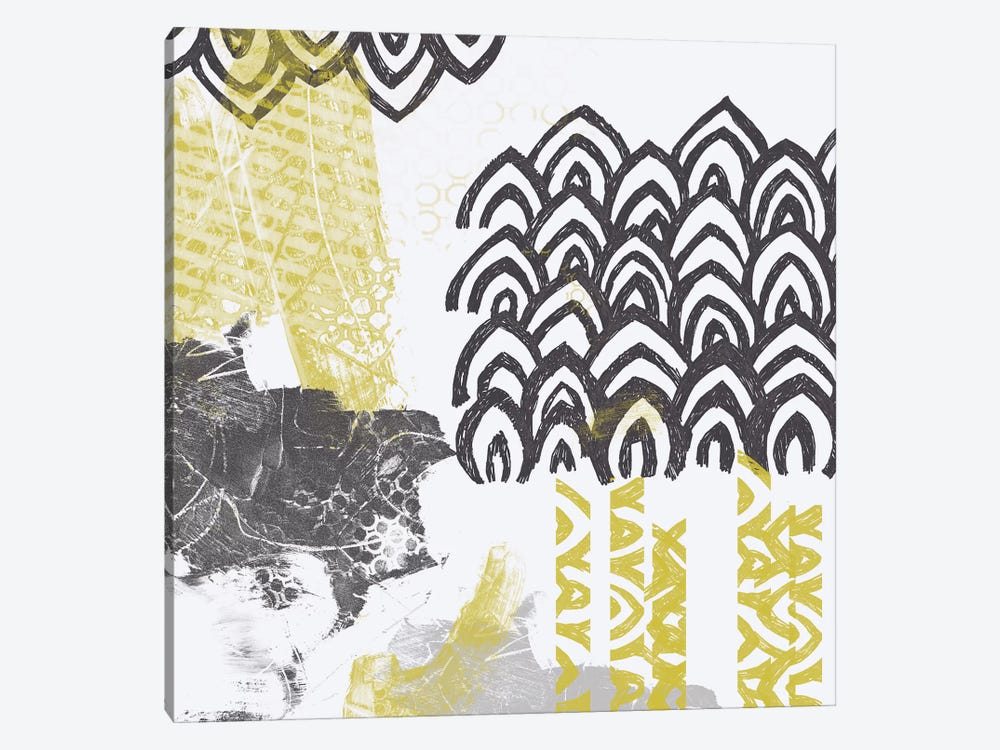 Block Print Abstract I by June Erica Vess 1-piece Canvas Wall Art