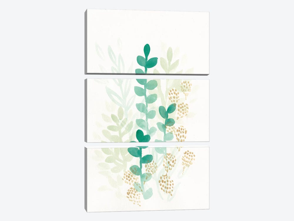 Sprout Flowers I by June Erica Vess 3-piece Canvas Artwork