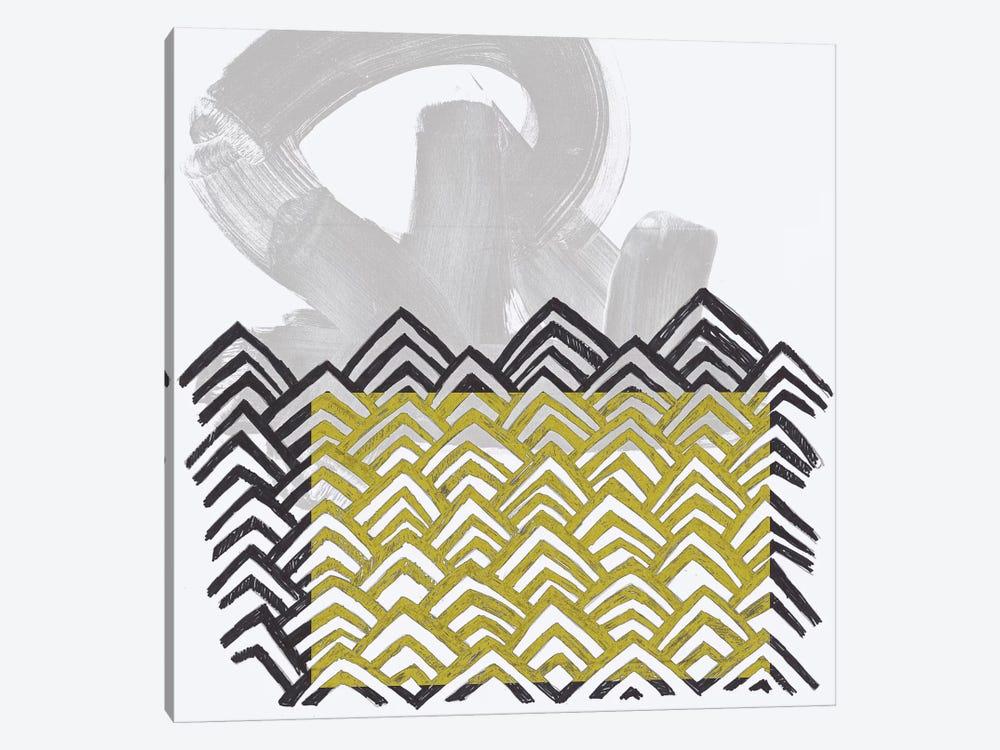 Block Print Abstract II by June Erica Vess 1-piece Canvas Art Print