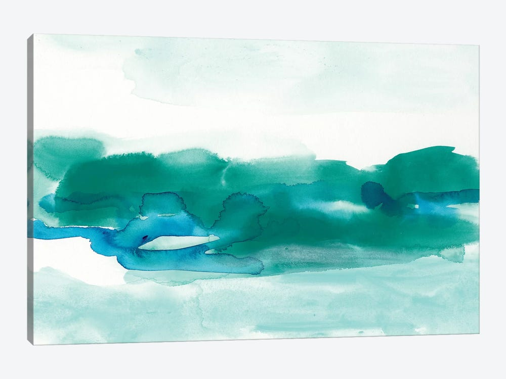 Teal Coast I by June Erica Vess 1-piece Canvas Print