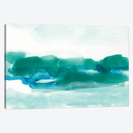 Teal Coast I Canvas Print #VES177} by June Erica Vess Canvas Art Print