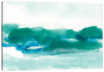 Teal Coast I Canvas Print #VES177