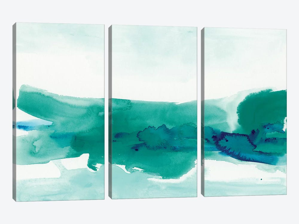 Teal Coast II by June Erica Vess 3-piece Canvas Artwork