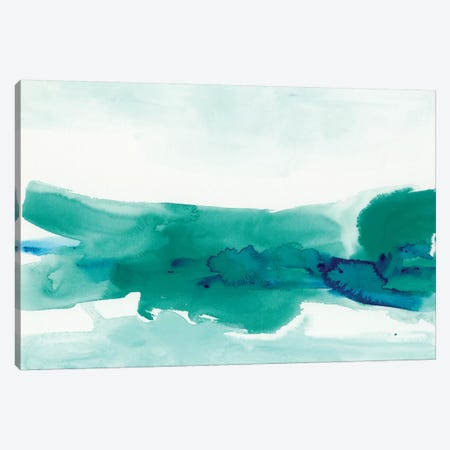 Teal Coast II Canvas Print #VES178} by June Erica Vess Canvas Art