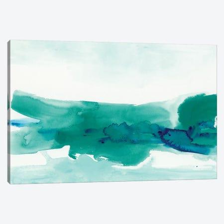 Teal Coast II Canvas Print #VES178} by June Erica Vess Canvas Art