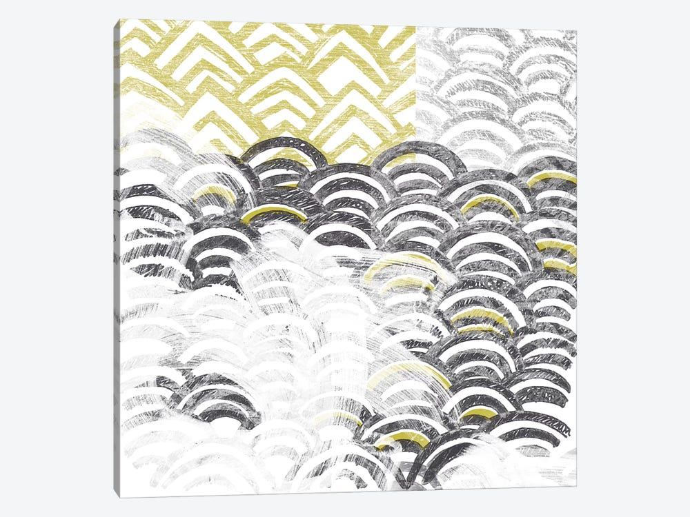 Block Print Abstract III by June Erica Vess 1-piece Canvas Artwork