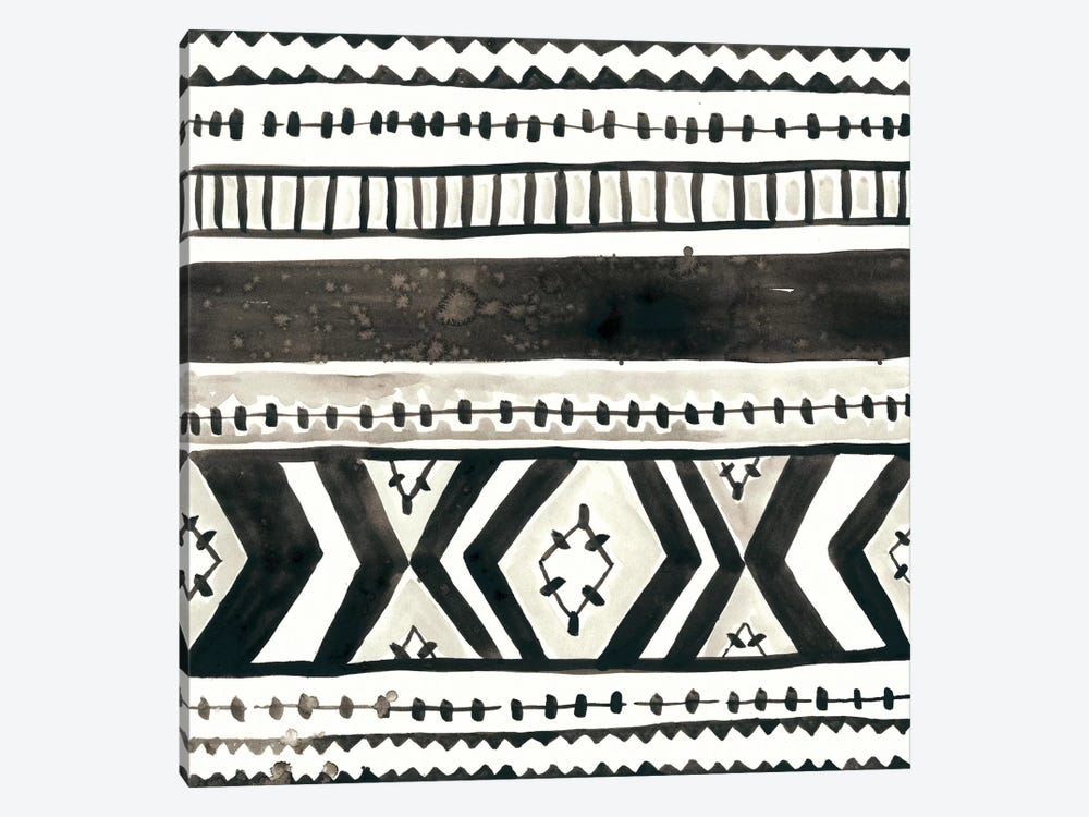 Tribal Echo II by June Erica Vess 1-piece Canvas Print