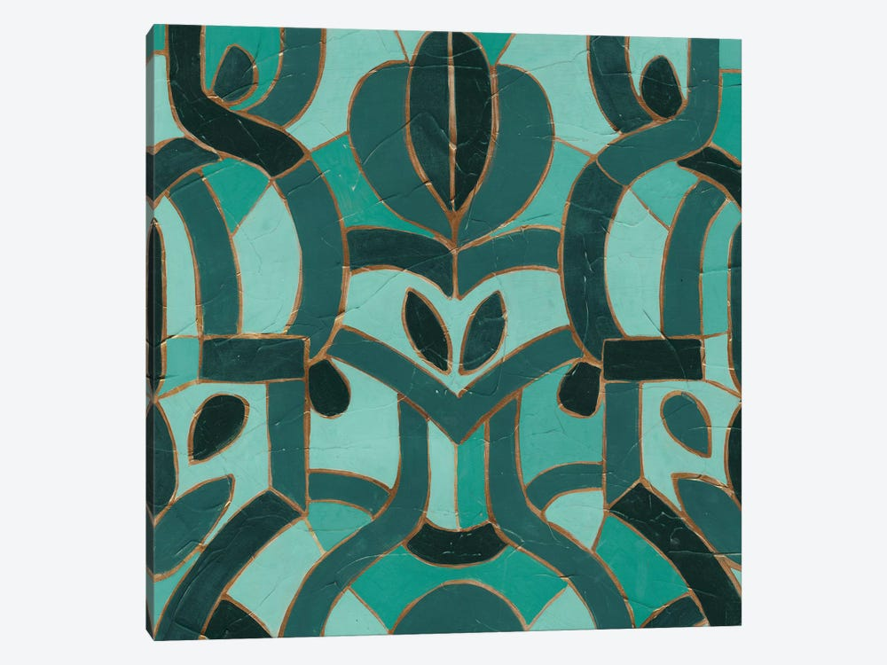 Turquoise Mosaic I by June Erica Vess 1-piece Canvas Wall Art