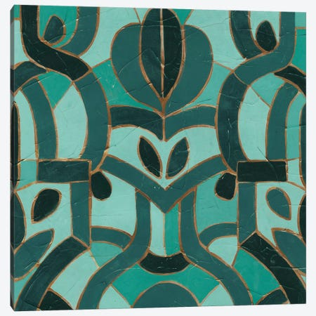 Turquoise Mosaic I Canvas Print #VES189} by June Erica Vess Canvas Art Print