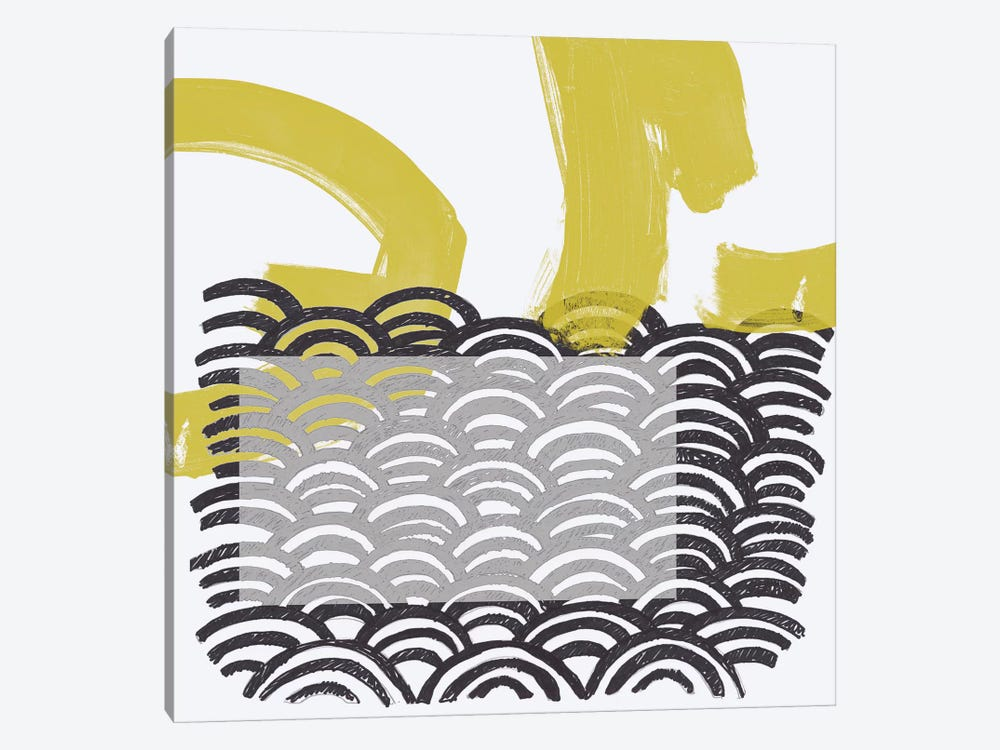 Block Print Abstract IV by June Erica Vess 1-piece Canvas Print