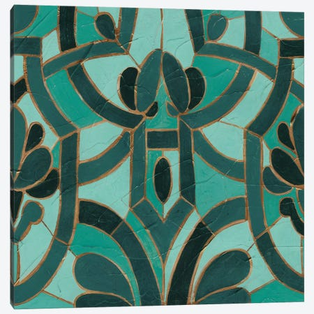 Turquoise Mosaic II Canvas Print #VES190} by June Erica Vess Canvas Artwork