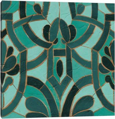 Turquoise Mosaic II Canvas Art Print