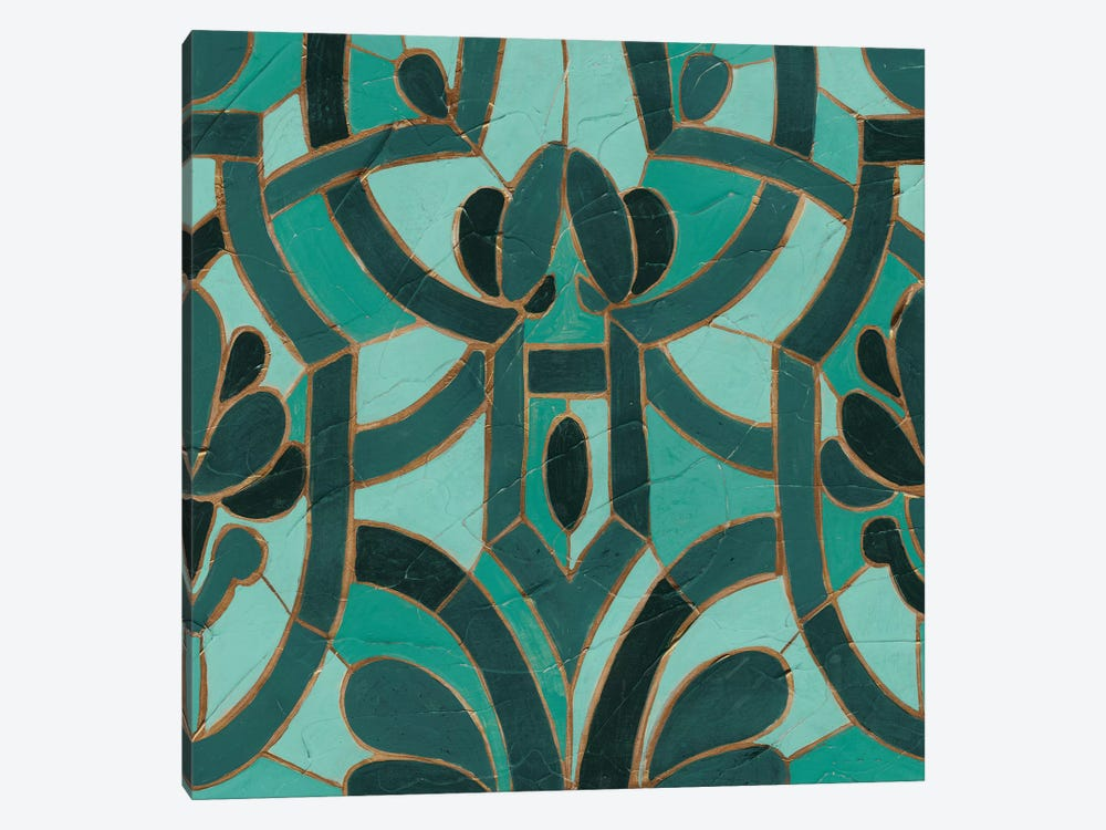 Turquoise Mosaic II by June Erica Vess 1-piece Canvas Wall Art