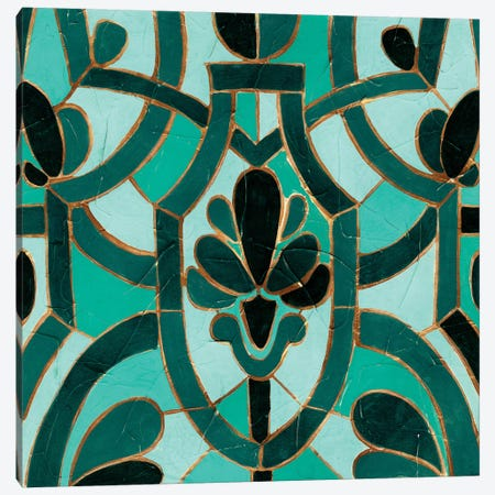 Turquoise Mosaic III Canvas Print #VES191} by June Erica Vess Canvas Wall Art