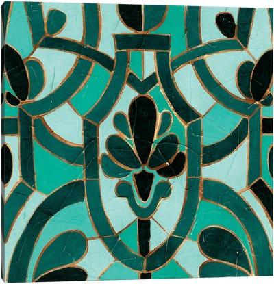 Turquoise Mosaic III Canvas Print #VES191