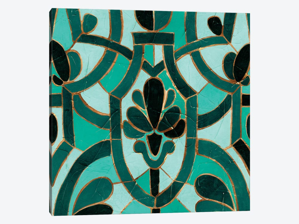 Turquoise Mosaic III by June Erica Vess 1-piece Canvas Print