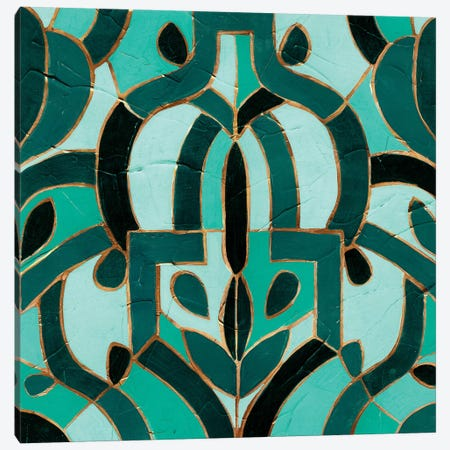 Turquoise Mosaic IV Canvas Print #VES192} by June Erica Vess Canvas Artwork