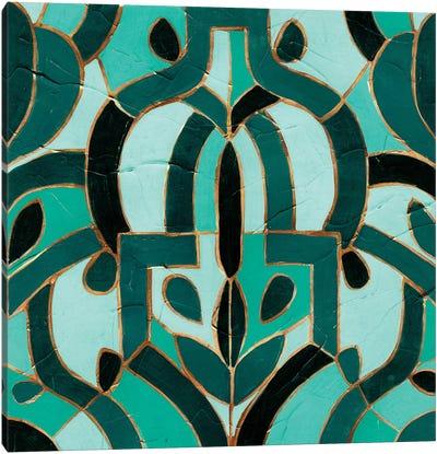 Turquoise Mosaic IV Canvas Print #VES192