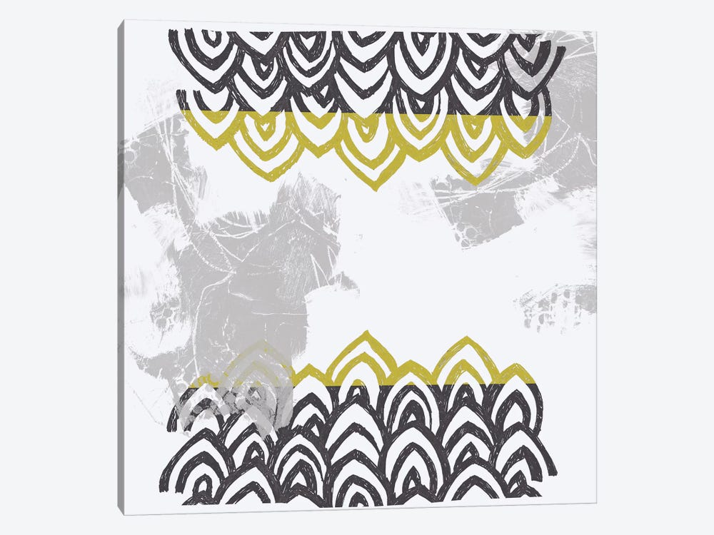 Block Print Abstract V by June Erica Vess 1-piece Canvas Wall Art