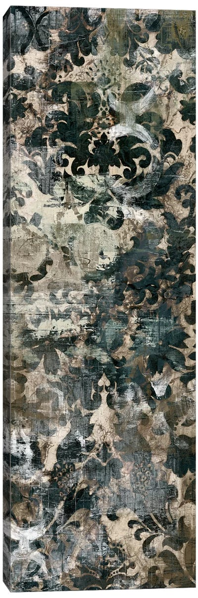 Weathered Damask Panel II Canvas Print #VES205