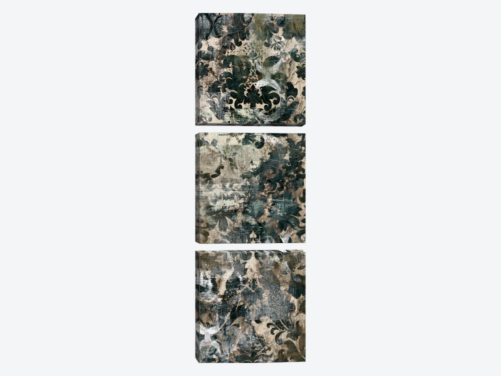 Weathered Damask Panel II by June Erica Vess 3-piece Canvas Wall Art